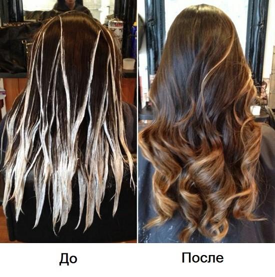 Окрашивание балаяж на длинные волосы в домашних условиях