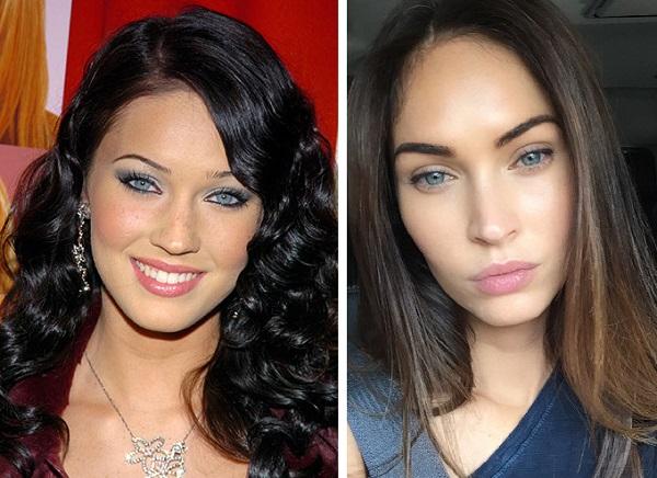 Меган Фокс до и после пластики фото