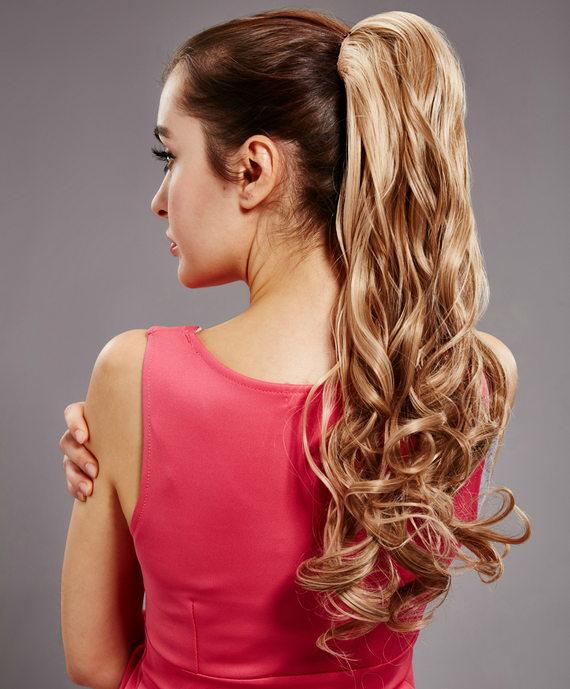 Конский хвост на кудрявые волосы
