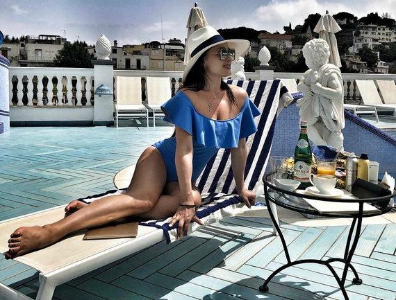 Елена Крайт в купальнике